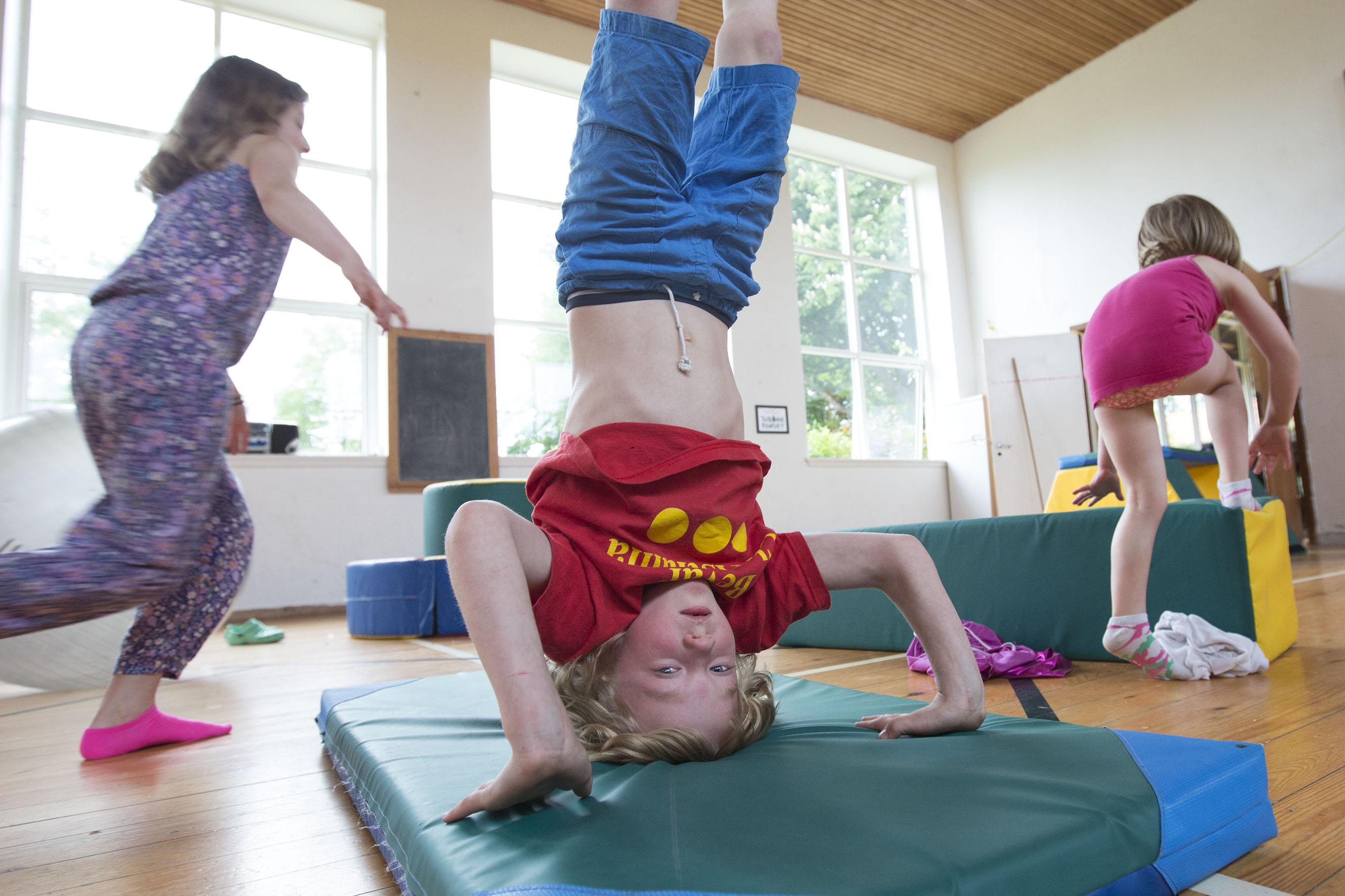 Tumling I Gymnastiksal
